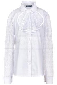 Блузка Белая Для Девочки С Гипюром 1002 46-170