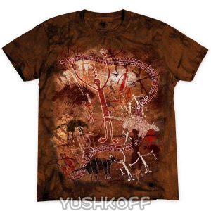 Футболка Cassowary Tdt 020 Quinkan Rock Art. 100% Cotton, 100% Original.