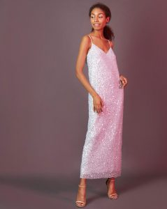 Платье Из Ткани Гофре С Пайетками Xxs